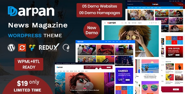 Darpan - News Magazine WordPress Theme - News / Editorial Blog / Magazine