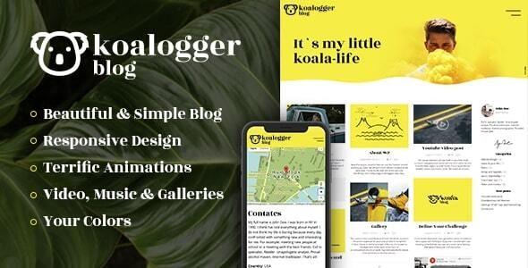 Koalogger - Simple WordPress Blog Theme + RTL - Personal Blog / Magazine
