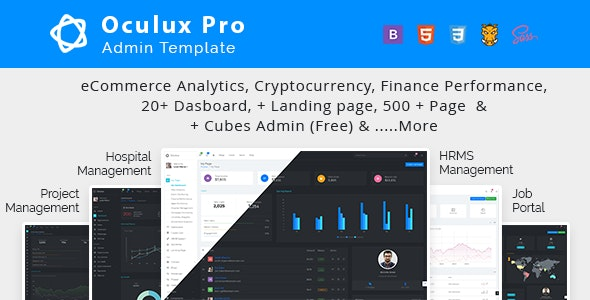 Oculux - Multi Concept Admin Dashboard Template and UI KIT - Admin Templates Site Templates