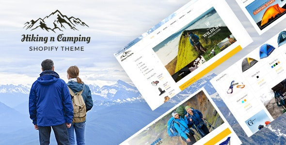 Adventure Store, Hiking and Camping Shopify Theme - Entertainment Shopify