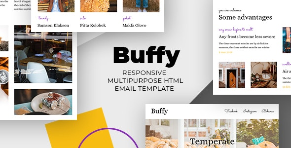 Buffy – Halloween HTML Email + StampReady, MailChimp & CampaignMonitor Compatible Files - Email Templates Marketing