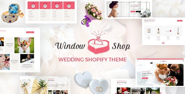 Window Shop - Wedding Shopify Store - Entertainment Shopify