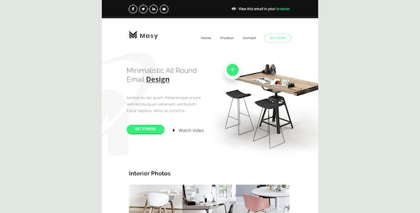 Masy - Responsive Email + Online Template Builder