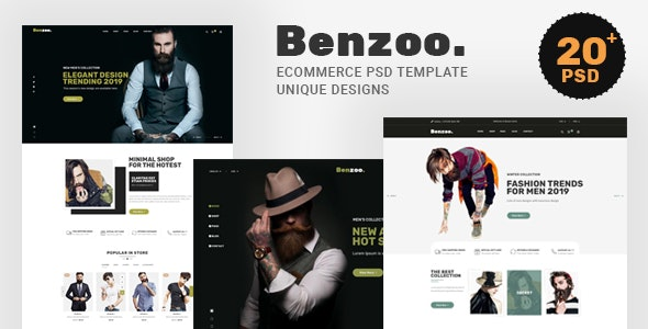 Benzoo - Ecommerce PSD Template - Fashion Retail