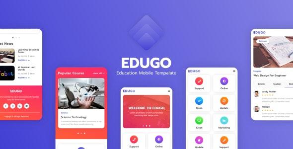 Edugo - Education Mobile Template - Mobile Site Templates