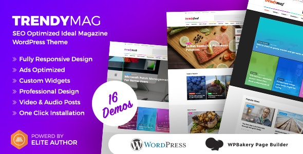 TrendyMag - WordPress News Magazine & Blog Theme - News / Editorial Blog / Magazine