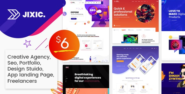 Jixic - Creative Agency & Multipurpose HTML Template - Creative Site Templates