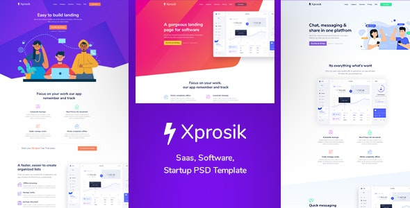 Xprosik - Landing Page for Saas & Software - Marketing Corporate