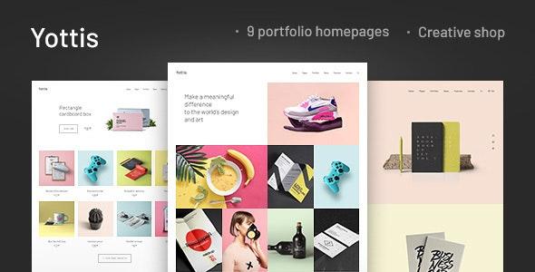 Yottis | Personal Creative Portfolio WordPress Theme + Store - Portfolio Creative