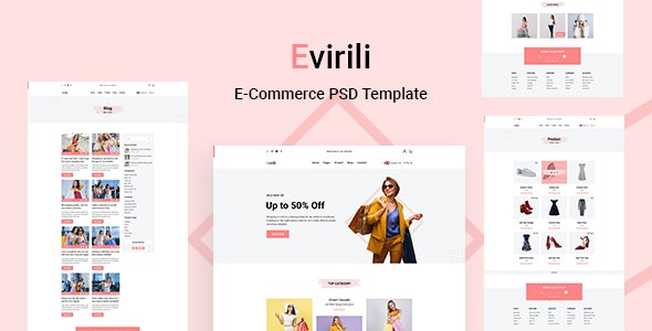 Evirili - eCommerce PSD Template - Shopping Retail