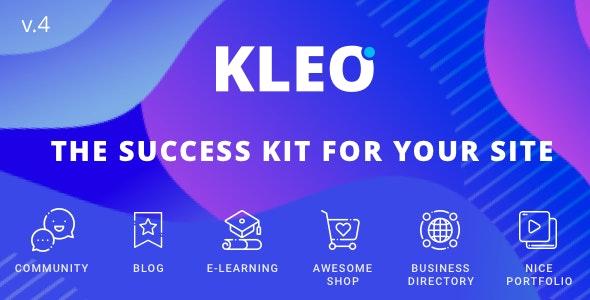 KLEO - Pro Community Focused, Multi-Purpose BuddyPress Theme - BuddyPress WordPress
