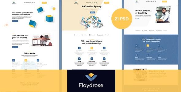 Floydrose - Modran Creative Agency PSD Template - Creative PSD Templates