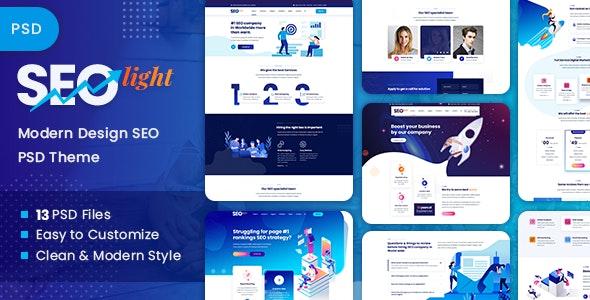 SEOLight - SEO & Digital Marketing PSD Template - Marketing Corporate