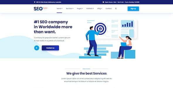SEOLight - Digital Marketing PSD Template