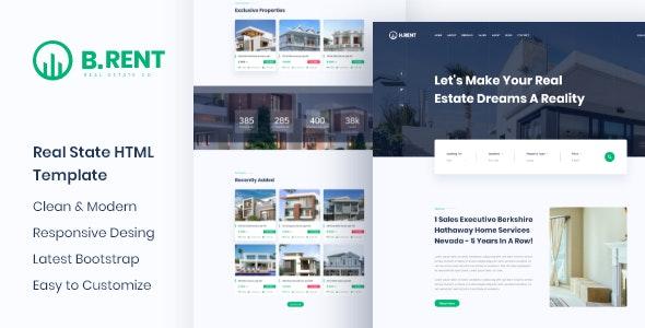 Bizrent - Property Real Estate HTML Template - Corporate Site Templates