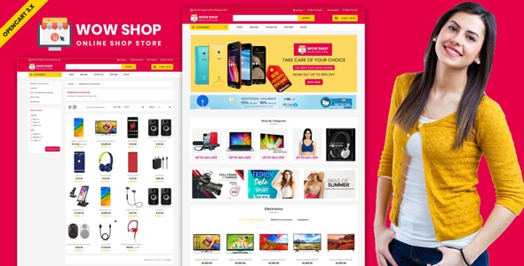 Wowshop - Multistore Website Theme - Shopping OpenCart