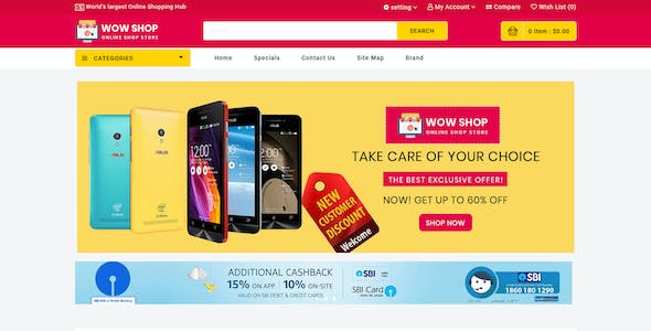 Wowshop - Multistore Website Theme