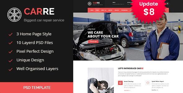 CARRE - Auto Mechanic & Car Repair PSD - Business Corporate