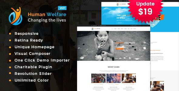 Human Welfare - Charity/Fundraising WordPress Theme - Charity Nonprofit