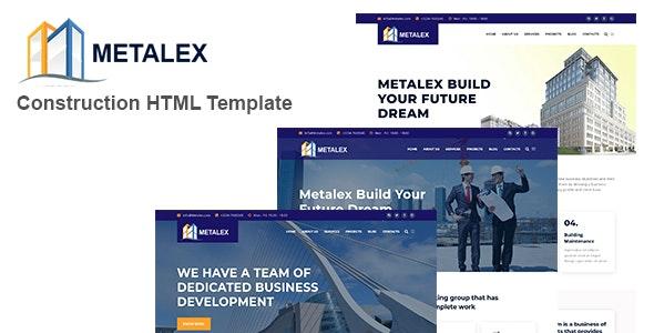 Metalex - Construction Business HTML Template - Corporate Site Templates