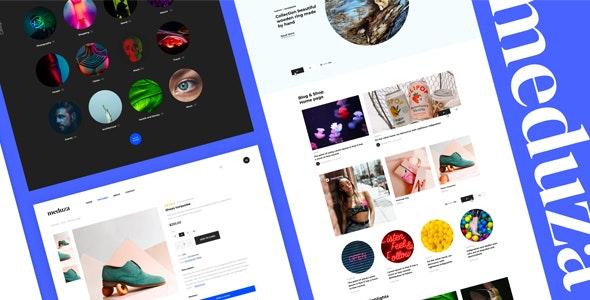 Meduza   Template For Blog & Shop - Creative Site Templates