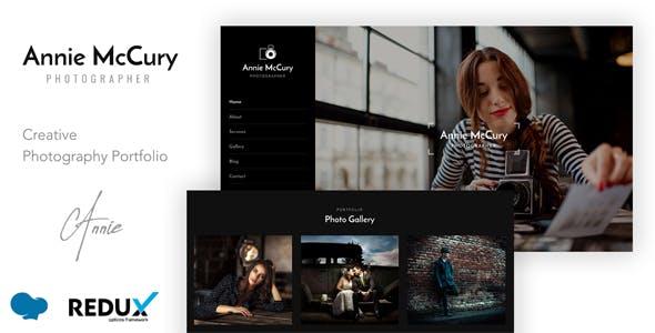 Annie - Creative Photography WordPress Theme