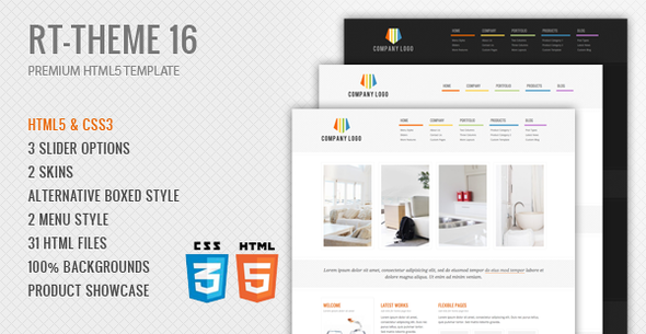 RT-Theme 16 Premium HTML5 Template - Business Corporate