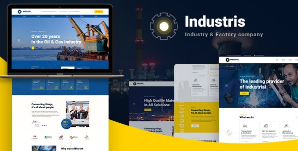 Industris - Factory & Business WordPress Theme - Business Corporate