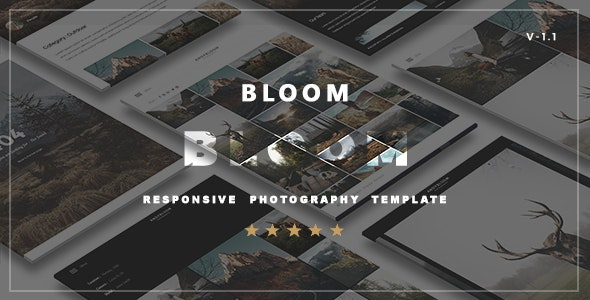 Bloom  - Responsive  Photography Portfolio Template - Photography Creative