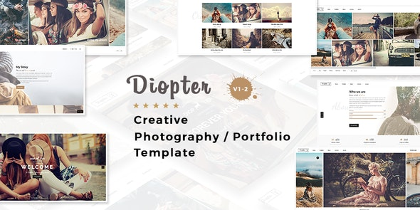 Diopter - Creative Responsive  Photography Portfolio  Template - Photography Creative