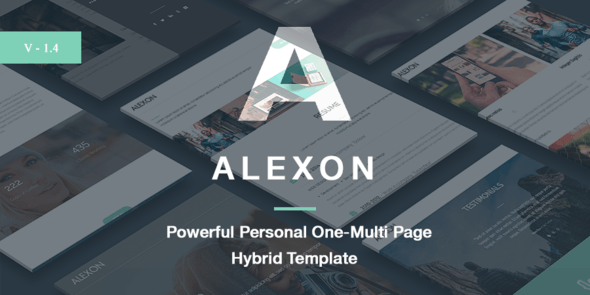 Alexon - Personal One-Multi Page Hybrid Template - Personal Site Templates