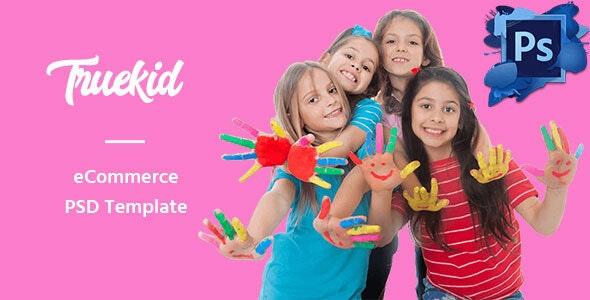 Truekid – eCommerce PSD Template - Children Retail