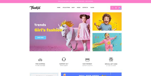 Truekid – eCommerce PSD Template