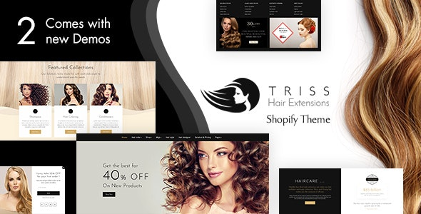 Triss Hair Extension Beauty Salon Shopify Theme By Buddhathemes