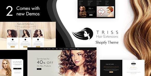 Triss - Hair Extension, Beauty Salon Shopify Theme