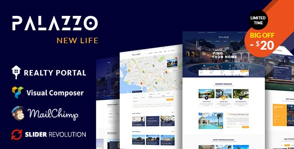 Palazzo - Real Estate WordPress Theme - Real Estate WordPress