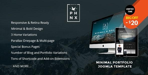 Phoenix - Minimal Portfolio Joomla Template - Portfolio Creative