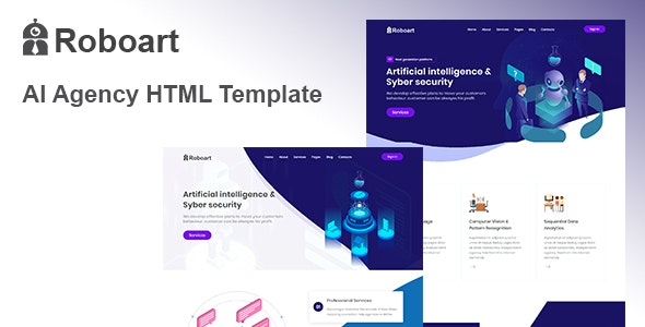 Roboart - Chatbot & Startup HTML Template - Technology Site Templates