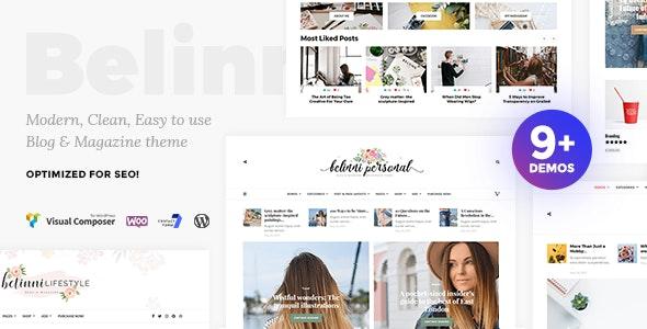 Belinni - Multi-Concept Blog / Magazine WordPress Theme - Blog / Magazine WordPress