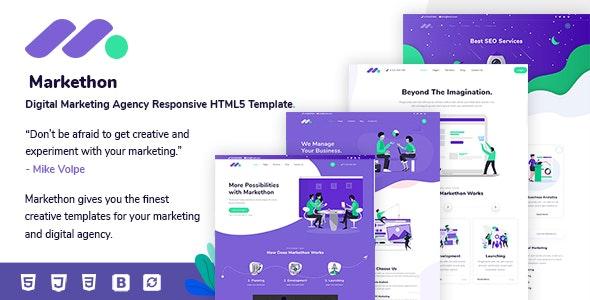 Markethon - Digital Marketing Agency Responsive HTML5 Template - Marketing Corporate