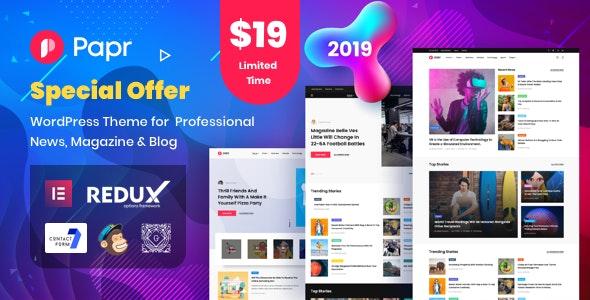 Papr | News Magazine WordPress Theme - Blog / Magazine WordPress