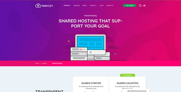 HostSite - Hosting and Technology Website PSD Template