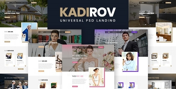 Kadirov - Universal PSD Landing - PSD Templates