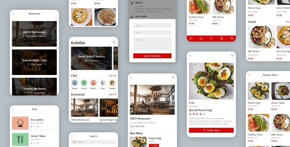 Kolufan - Food and Restaurant Mobile Template - Mobile Site Templates