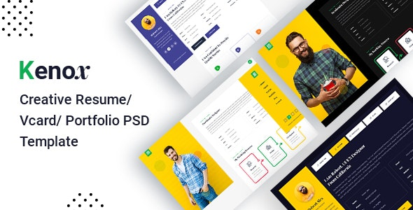 Kenox - Creative Resume/Vcard/portfolio PSD Template - Portfolio Creative