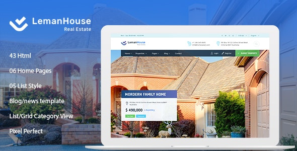 Lemanhouse - Real Estate HTML Template - Corporate Site Templates