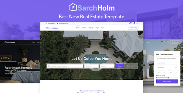 SarchHolm - Real Estate HTML Template - Business Corporate