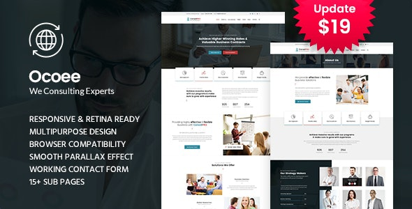 Ocoee - Consulting & Business WordPress Theme - Business Corporate