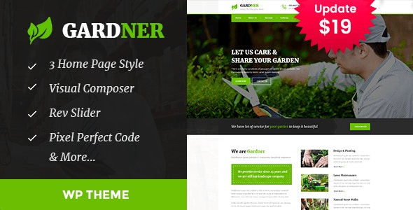 Gardener - Gardening and Landscaping WordPress Theme - Business Corporate