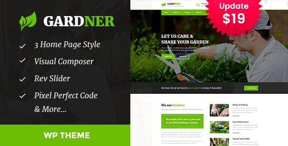 Gardener - Gardening and Landscaping WordPress Theme
